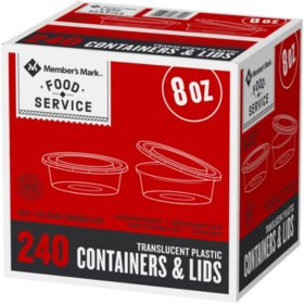 Member's Mark Deli Container with Lid (8 oz., 240 ct.)