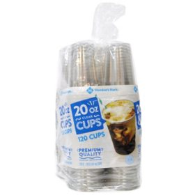 Member's Mark Clear Plastic Cups, 20 oz. (120 ct.)