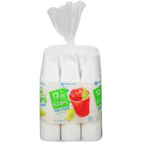 Member's Mark Translucent Plastic Cups (12 oz., 330 ct.)