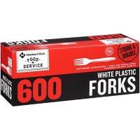Member's Mark White Plastic Forks (600 ct.)