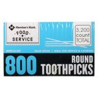 Member's Mark Round Toothpicks (800 ct. each, 4 boxes)