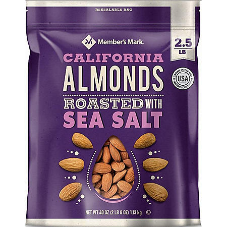 Member's Mark Roasted Almonds with Sea Salt (40 oz.)