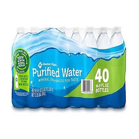 Member's Mark Purified Water (16.9oz / 40pk)