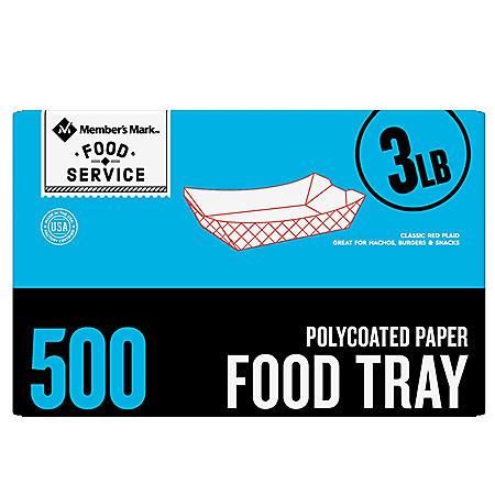 Member's Mark 3lb. Heavy Duty Paper Food Trays (500 ct.)