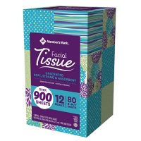 Member's Mark Ultra Soft Facial Tissues, 12 Cube Boxes, 80 3-Ply Tissues per Box (960 Tissues Total)