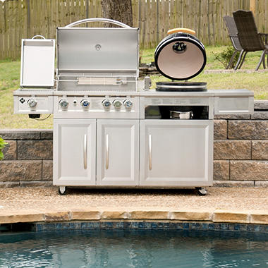 1099 00 Member S Mark Gas Amp Kamado Combo Grill Dealepic