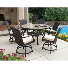 Member's Mark Heritage 7-Piece Balcony-Height Dining Set with Premium Sunbrella Fabrics