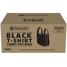 Black T-Shirt Carryout Bags (1,000 ct.)