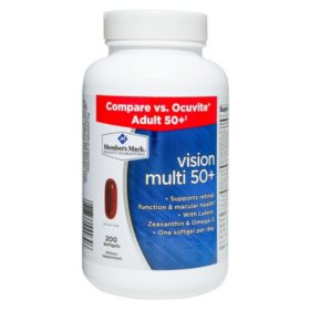 Member's Mark Vision Multi 50+ Dietary Supplement (200 ct.)