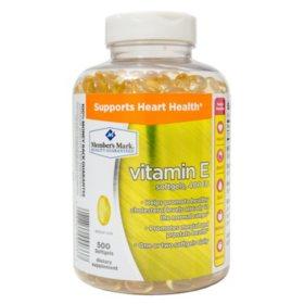 Member's Mark Vitamin E 400 IU Dietary Supplement (500 ct.)