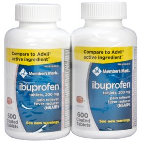 Member's Mark 200mg Ibuprofen (600 ct., 2 ct.)