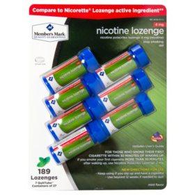 Member's Mark 4 mg Nicotine Lozenge, Mint (189 ct.)