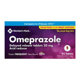 Member's Mark Omeprazole Delayed Release Tablets 20 mg (42 ct.)