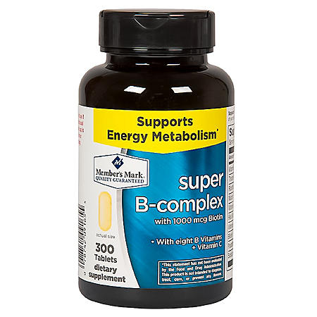 Vitamins For Energy >> Member S Mark Super B Complex Dietary Supplement 300 Ct Sam S Club