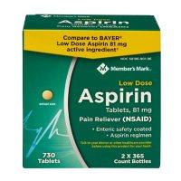 Member's Mark 81mg Low Strength Aspirin (730 ct.)