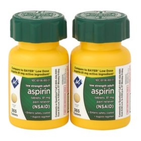 Member's Mark 81mg Low Strength Aspirin (730 ct.)