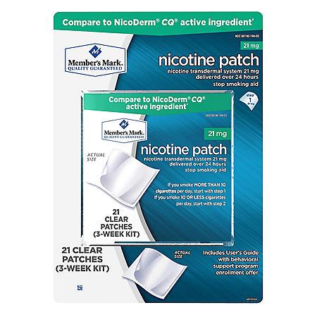 Member's Mark 21mg Nicotine Patch, Step 1 (21 ct.)