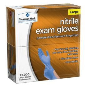 Member's Mark Nitrile Exam Gloves (Assorted Sizes)
