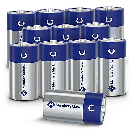 Member's Mark Alkaline C Batteries, 12 Pack