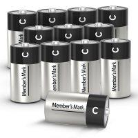 Member's Mark Alkaline C Batteries, 12 Pack