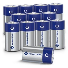 Member's Mark Alkaline C Batteries (12 Pack)