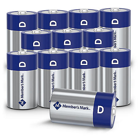 Member's Mark Alkaline D Batteries, 12 Pack