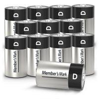 Member's Mark Alkaline D Batteries, 12 Pack