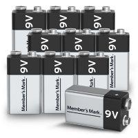 Member's Mark Alkaline 9V Batteries, 10 Pack
