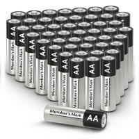 Member's Mark Alkaline AA Batteries, 48 Pack