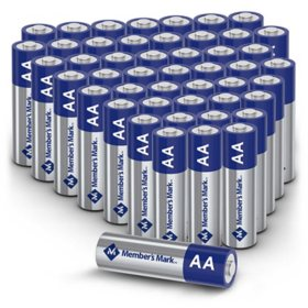 Member's Mark Alkaline AA Batteries, 48 Pack