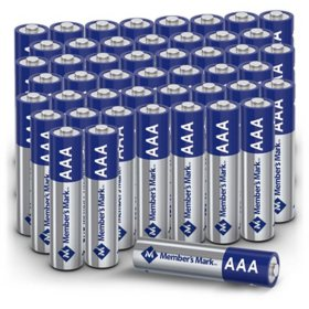 Member's Mark Alkaline AAA Batteries, 48 Pack