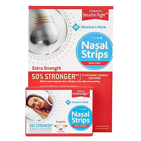 Member's Mark Extra Strength Nasal Strips, Tan (44 ct.)