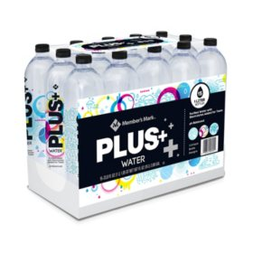 Member's Mark Plus+ Purified Electrolyte Water (1 L/ 15 pk.)
