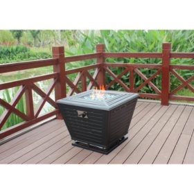 "Member's Mark 30"" Gas Fire Pit with LED Light"