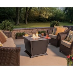 Members Mark  Square Gas Outdoor Fire Pit Table By Blue Rhino