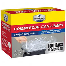 Member's Mark Commercial 7-10 Gal. Trash Bags (1000 ct.)