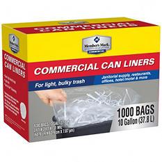 Member's Mark 7-10 Gallon Commercial Trash Bags (1000 ct.)