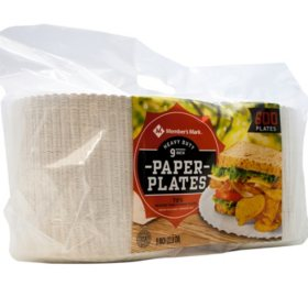 "Member's Mark Heavy-Duty Paper Plates, 9"" (600 ct.)"