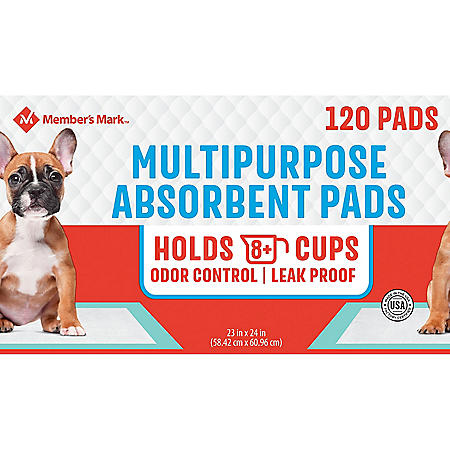 "Member's Mark Pet Training Pads, 23"" x 24"" (120 ct.)"