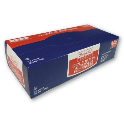 "Daily Chef Foil Sheets, 12"" x 10.75""  (500 ct.)"