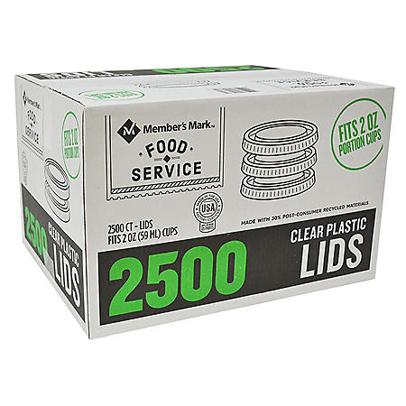 Member's Mark Clear Plastic Portion Lids (2 oz., 2,500 ct.)