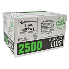 Member's Mark Clear Portion Plastic Lids (2 oz., 2,500 ct.)