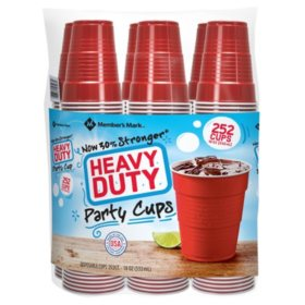 Member's Mark Heavy-Duty Red Cup 18 oz., 252 ct.