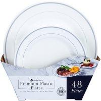 Member's Mark Premium Plastic Heavyweight Plates, Combo Pack (48 ct.)