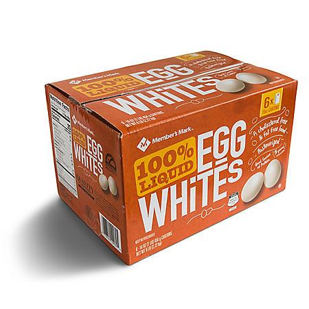 Member's Mark 100% Liquid Egg Whites (16 oz. cartons, 6 pk.)