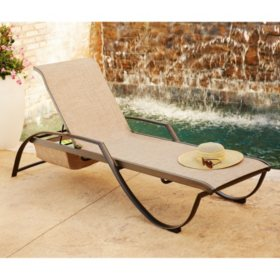 Peachy Members Mark Sling Stacking Chaise Lounge Sams Club Unemploymentrelief Wooden Chair Designs For Living Room Unemploymentrelieforg