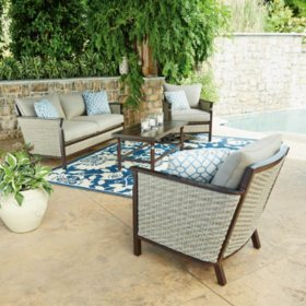 Surprising Members Mark Cole 4 Piece Seating Set Sams Club Pabps2019 Chair Design Images Pabps2019Com