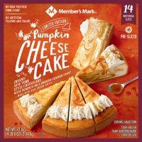 Member's Mark 9-inch Pumpkin Cheesecake, 14 slice, 72 oz