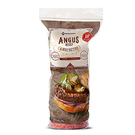 Member's Mark Ground Angus Beef Patties (1/3 lb. patties, 18 ct.)