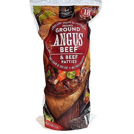 Member's Mark Ground Angus Beef Patties (1/3 lb. patties, 18 ct.)